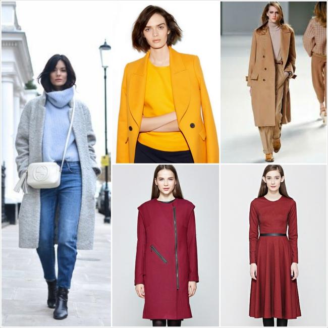Пальто и платье одного цвета